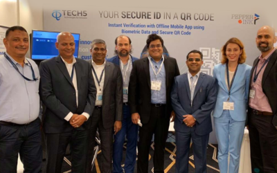 Identity Week Asia 2019: Pepper & Ink Technologies and TECH5 Co-Launch their Non-Smart Card ID Storage Solution based on a Secure QR Code and Top-Ranked NIST Face Recognition Technology