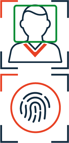 Icon of TECH5_facial recognition and fingerprint recognition